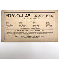 DYOLA Victorian Era Color Sample Trade Card