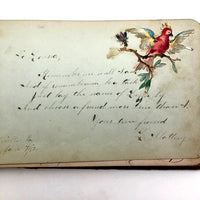 Louisa Popeney, Pennsylvania Antique 1880s Signed Autograph Book