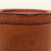 Early 20th Century Large Burmese Lacquer Kun-It Betel Box