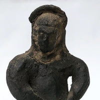 Mexican Barro Negro Woman-Shaped Bell