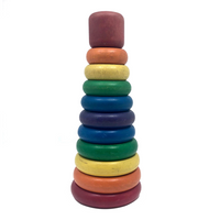 Playskool Rainbow Wooden Stacking Toy, c.1969