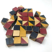 Embossing Company Color Cubes, 36 Cube Set, c. 1930s