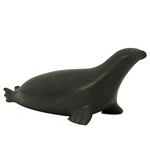 Inuit Dark Green Soapsone Carved Seal or Sea Lion