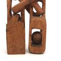 Big Chunky Carved Whimsy with Links an Ball in Cage
