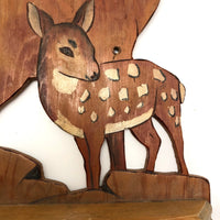 Doe and Fawn Vintage Handmade Key or Tie Holder