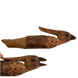 Bird Shaped Wooden Whistle with Mechanical Beak