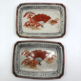Pair of Small Hand-painted Japanese Porcelain Trays