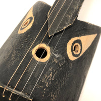 Four String Handmade Black Cat Toy Guitar