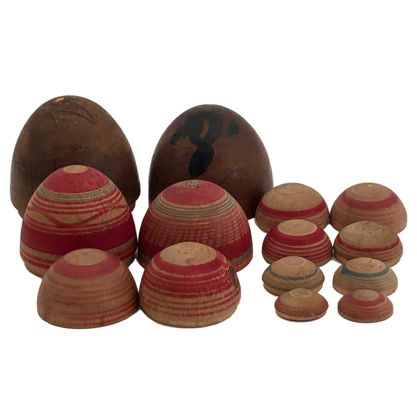 Japanese Hand-painted Nesting Egg Set