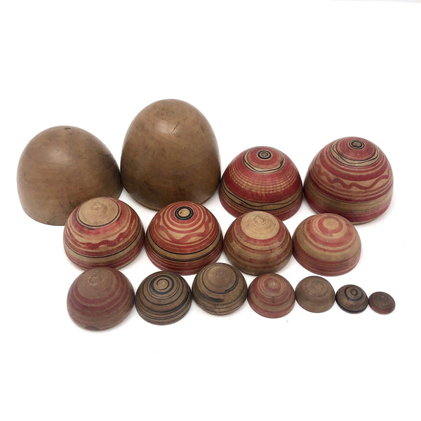 Lovely Hand-painted Japanese Treen Nesting Eggs