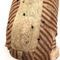 Much Loved Large Handmade Striped Linen Elephant Pin Cushion