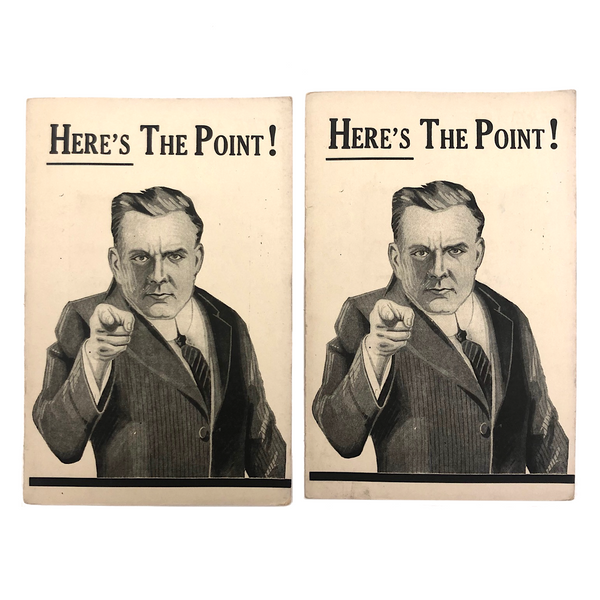 Here's the Point! 1927 Grand Fraternity Promo Booklets with Needles!