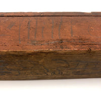 Great Old Swivel Top Wooden Pencil Box with Original  Paint