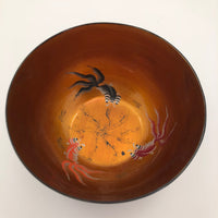 Chinese Foochow Lacquer Bowl With Goldfish and Dragon