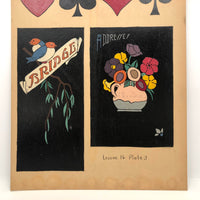 "Assorted Decorative Gouache Fireside Studios ""Practice Boards"" 1935, Your Choice"