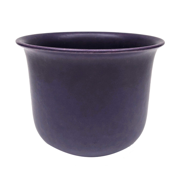 Matte Blue Glazed German Ceramic Planter
