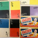Saigon Stuffing Colorful British Dotless Playing Card Dominoes