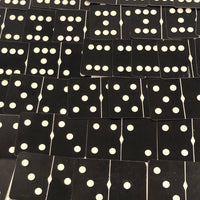 Russell Mfg. Co Black and White Playing Card Dominoes
