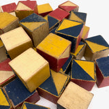 U.S. Embossing Co 1930s Color Cubes - 49 Cube Set with Raised Diagonals
