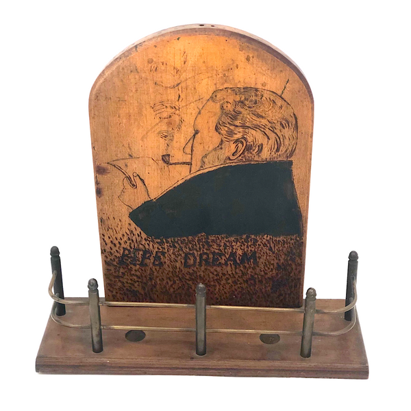 Pipe Dream Pyrography Folk Art Pipe Rack