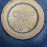Winfield Pottery Pasadena 1930s Hand-thrown Bowl (the perfect blue bowl #1)