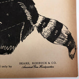 J.C. Higgins Vintage Animal Shooting Targets for Sears Roebuck Co.