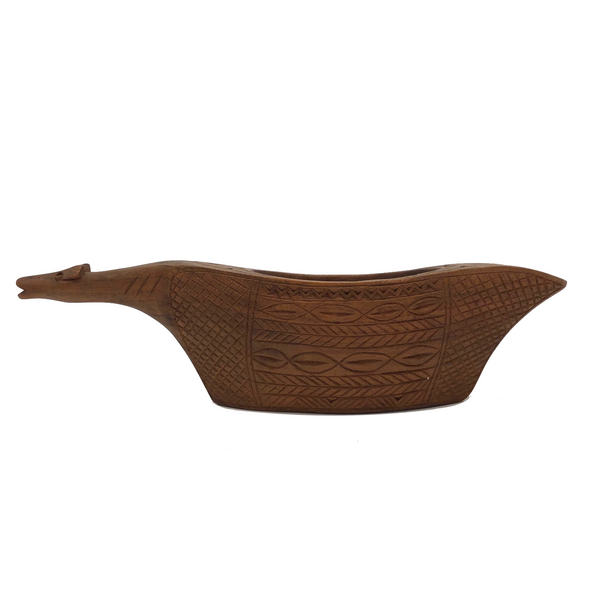 Yugoslavian Wooden Animal Vessel