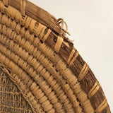 Northwest Coast Native Hazel Twined / Grass Coiled Sifting or Winnowing Basket