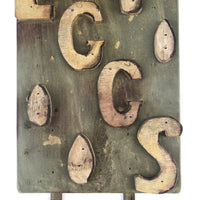 Great Old Folk Art Wooden EGGS Sign with Pointing Hand