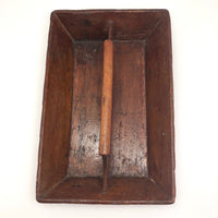 Antique Primitive Wooden Knife Tray with Handle
