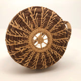 Coushatta Pine Needle Basket with Sculptural Handle