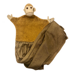 Handmade Felt and Linen Monkey Hand Puppet!