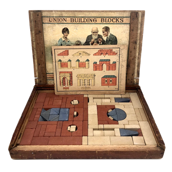 Richter Stone Union Building Blocks Complete Set No. 6 in Original Box with Booklet