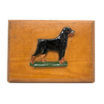 1973 Second Place D.C. Armory  Dog Show Trophy Plaque by Merle