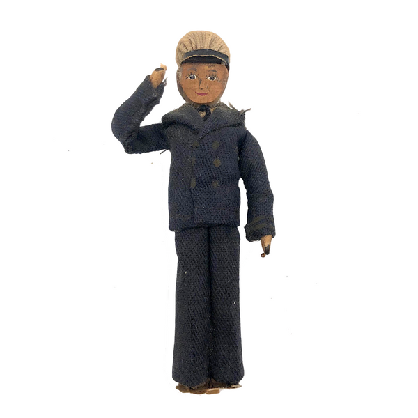 Old Handmade Clothespin Sailor