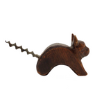 Hand-carved Cat Corkscrew After Richard Rohac