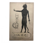 A.O.C Secret Society Emblem 1909 Hand-drawn Postcard