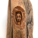 Charming Old Carved Folk Art Wood Spirit