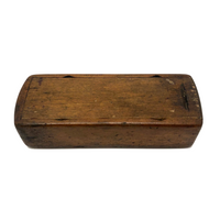 Hand-carved Antique Slide Top Box with Fantastic Patina