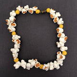 C.O. Day Vintage 1980s Porcelain Popcorn Necklace!