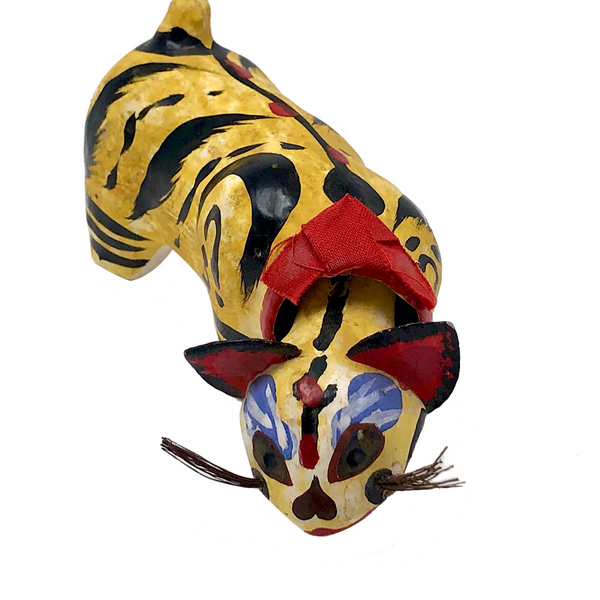Japanese Hariko Bobble Head Tiger with Whiskers