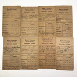 Lot of 18 1920s-30s NYC Report Cards - P.S. 9, Dewitt Clinton, P.S. 87