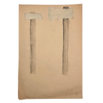 SOLD (for KA) Arthur Tilo Art, Two Axes, Childhood Drawing, Berlin, WW2 Era