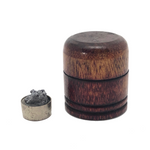 Tiny Treen Box with Rock Sample Inside