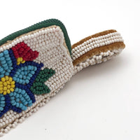 Native American Beaded Mocassin Coin Purse with Flowers