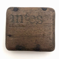 "Curious Antique Hand-carved ""Antes"" Box"