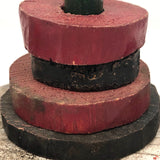 Sculptural Old Handmade Stacking Toy with Chippy Paint
