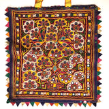Gujarat Theli Bag with Fine Hand Embroidery, Mirrors, and Sequins