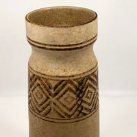 Tall 1960s Pottery Craft California Brown Stoneware Vase