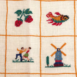 Cross-Stitch on Linen Vintage Pillowcases - a Pair